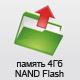 Внутренняя память 4Гб NAND Flash