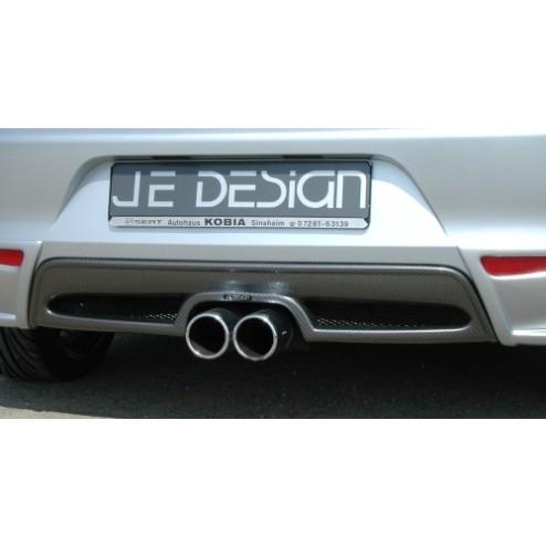Задний карбоновый диффузор под 2 трубы Ibiza JE DESIGN