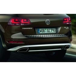 Защита заднего бампера VW Touareg