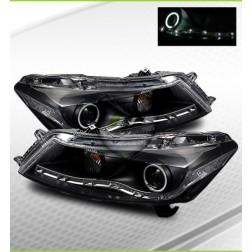 Передние фары Honda Accord 4dr EAGLE EYES черные