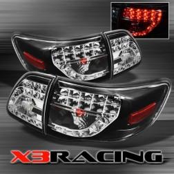Задние фары черные Corolla X3Racing